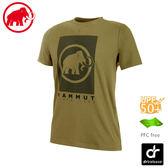 【MAMMUT 長毛象 男 Trovat T-Shirt 短袖上衣《橄欖綠》】1017-09862/圓領/抗UV防曬50+
