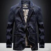 西裝 小西裝男薄款韓版修身休閒單西夾克西服牛仔外套上衣   傑克型男館