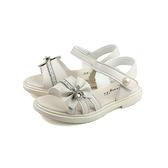 小女生鞋 涼鞋 米白色 蝴蝶結 中童 童鞋 B2005 no166 18~19cm