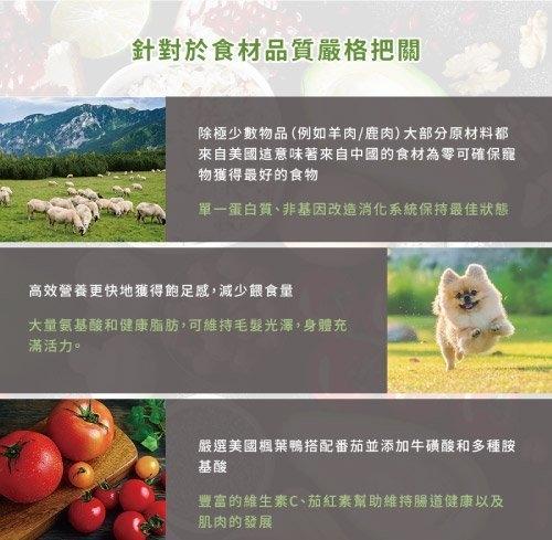 《48HR快速出貨》*KING*Ancestry 美國望族 天然犬糧(無穀系列) 美國楓葉鴨+番茄 4LB/包