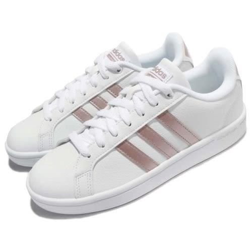 ISNEAKERS ADIDAS CF ADVANTAGE DA9524 休閒鞋 玫瑰金 女