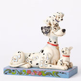 《Enesco精品雕塑》迪士尼101忠狗歡樂家族塑像-Puppy Love(Disney Traditions)_EN87892