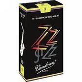 凱傑樂器 Vandoren ZZ Alto Reeds SAX 黑盒 中音竹片 3號半