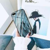 蘋果splus手機殼玻璃套iphonex男女款歐美網紅同款簡約【3C玩家】