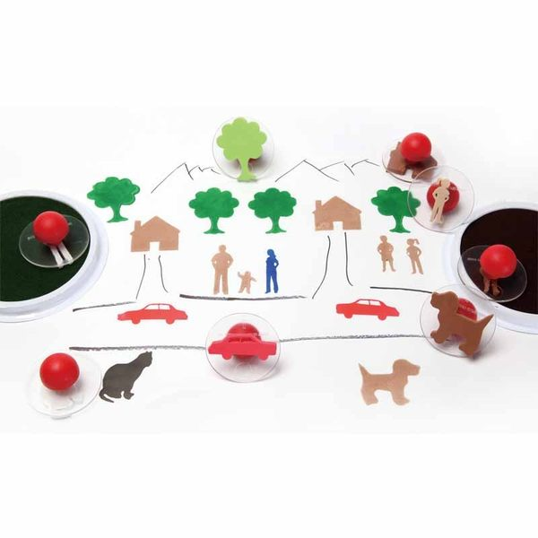 可愛的家大印章 兒童幼兒教具教學道具彩繪著色畫圖用具親子同樂綜合活動藝術與人文