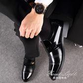 皮鞋 男士皮鞋男韓版春季新款英倫商務休閒正裝內增高男鞋子爸爸鞋 果果輕時尚