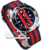SKMEI 時刻美 英倫雙配色 潮流腕錶 帆布錶帶 造型 女錶 男錶 紅x藍 SK9133-B5【時間玩家】