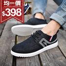 均一價$398男鞋韓版時尚流線圖騰布織帶...