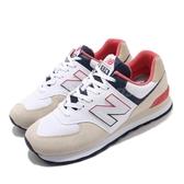 New Balance 休閒鞋 NB 574 白 卡其 深藍 男鞋 女鞋 復古 運動鞋 【ACS】 ML574SCGD