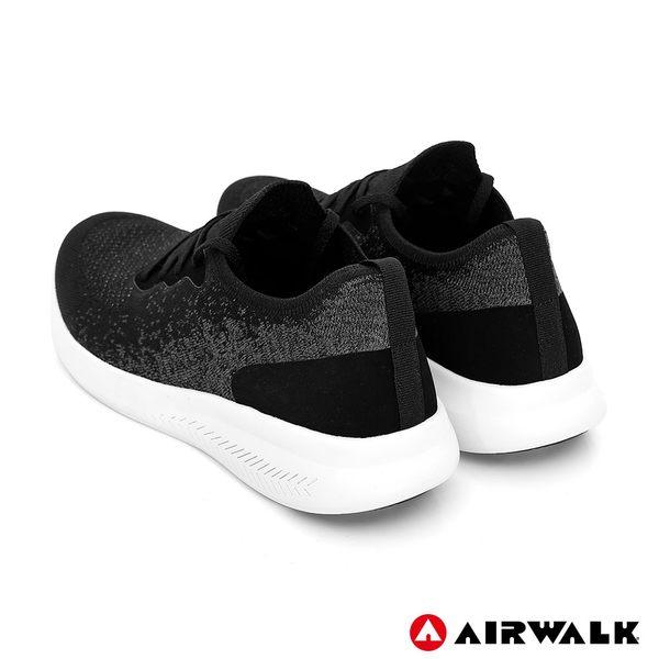 【AIRWALK】浮光掠影編織運動鞋-黑-女款
