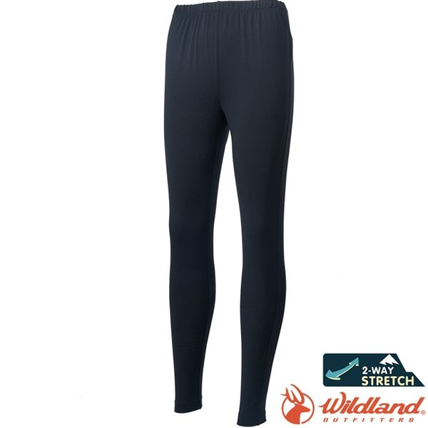 Wildland 荒野 0A62630-54黑 中性彈性輕量保暖褲 發熱褲/透氣排汗衛生褲/保暖內搭褲/大尺碼*