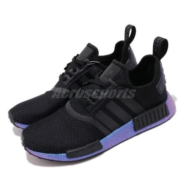 adidas 休閒鞋 NMD_R1 黑 藍 男鞋 Boost 反光設計 襪套式 運動鞋 【ACS】 FV3645