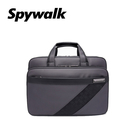 SPYWALK 公文包 斜格紋經典多隔層14吋電腦袋公事包 NO:1585