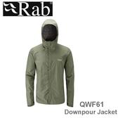 【速捷戶外】英國 RAB QWF61 Downpour Jacket 男高透氣連帽防水外套(田野綠),登山雨衣,防水外套