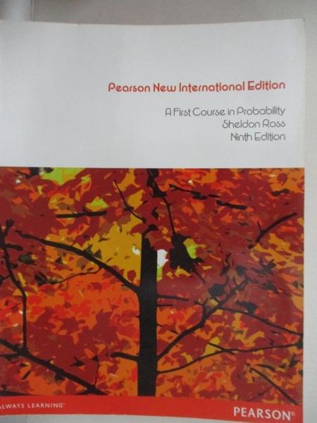 【書寶二手書T3/大學商學_J8N】A First Course in Probability(PNIE)_9/e_Ross