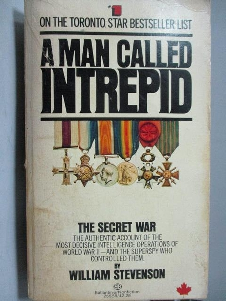 【書寶二手書T7/原文小說_OCE】A Man Called Intrepid_William