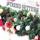 聖誕 裝飾 佈置 270公分松果樹藤彩帶...