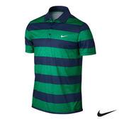 NIKE 休閒排汗橫條短袖POLO衫(綠)725517-319