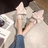 單鞋女2019春款晚晚風溫柔鞋仙女平底豆豆鞋尖頭淺口船鞋網紅女鞋 可卡衣櫃