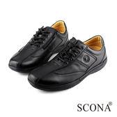 SCONA 全真皮 舒適減壓吸震休閒鞋 黑色 1240-1