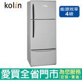 歌林481L三門風扇式變頻電冰箱KR-348V01~A含配送到府+標準安裝【愛買】