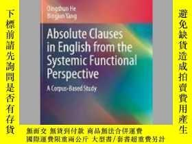 二手書博民逛書店Absolute罕見Clauses in English from the Systemic Functional