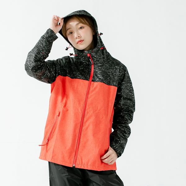 君邁雨衣,邁邁不積水前項導流兩件式風雨衣,橘紅