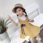 女童夏裝套裝2018新款韓版兒童短袖上衣吊帶裙兩件套洋氣寶寶套裝-奇幻樂園