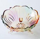 歐式水晶玻璃水果盤大號糖果干果沙拉盆