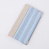 精裝藍條銀飾名片本96入-生活工場