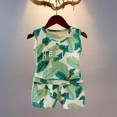 小童夏裝男童套裝2019夏款背心兒童洋氣無袖兩件套寶寶韓版潮衣 嬌糖小屋