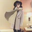 韓版雙色圍巾 超軟舒服 流蘇 女圍巾(SSA0004)AngelNaNa