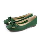 HUMAN PEACE 休閒鞋 低跟 綠色 蝴蝶結 荔枝紋 女鞋 S249B no660