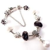 手鍊 串珠-水晶琉璃飾品珍珠生日情人節禮物女配件3色73bo68【時尚巴黎】