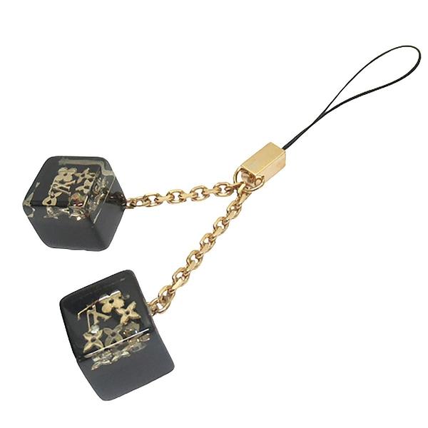 LOUIS VUITTON LV 路易威登 黑色立方體手機吊飾 Cube Cell Phone Charm 【BRAND OFF】