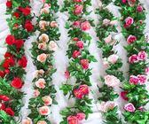 【618好康又一發】仿真玫瑰花藤假花藤條裝飾遮擋