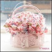 達菲 雪莉玫 史黛拉兔鑰匙圈+草莓益生菌軟糖糖果棒x100支+大提籃x1個 婚禮小物 二次進場