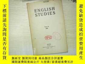 二手書博民逛書店ENGLISH罕見STUDIES 1951 32Y180897