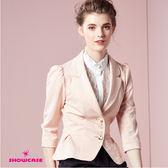 【SHOWCASE】OL甜美公主袖修身西裝外套(卡其)