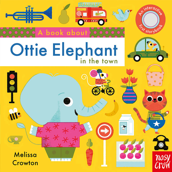 A Book About Ottie Elephant In The Town 歐提大象逛市區 硬頁學習書