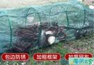 蝦籠漁網魚網自動龍蝦網捕魚工具折疊抓魚籠黃鱔籠捕蝦河蝦泥鰍網【海闊天空】