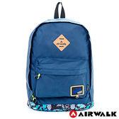 AIRWALK 防潑水輕量尼龍後背包 -塗鴉藍 A411320480
