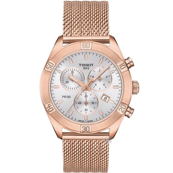 TISSOT 天梭 PR100 SPORT 運動時尚計錶(T1019173303100)38mm