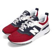 New Balance 復古慢跑鞋 997 NB 紅 深藍 麂皮鞋面 運動鞋 男鞋 女鞋【PUMP306】 CM997HEAD
