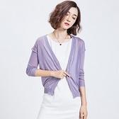 針織外套 短版-時尚優雅後背蕾絲女亞麻罩衫5色73fb21【巴黎精品】