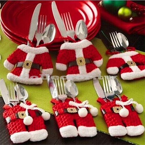 聖誕裝飾品 聖誕刀叉勺餐具套 (衣服+褲子)