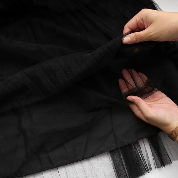 ★冬裝上市★MIUSTAR 兩件式!排釦外套+無袖針織拼百褶紗洋裝(共2色)【NF4545SR】預購