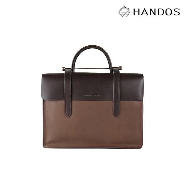 HANDOS| Musician 皮革音譜手提包 - 摩卡 ↘76折價