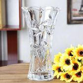 新歐式大號玻璃透明花瓶水培植物富貴竹綠蘿客廳仿真插花裝飾擺件