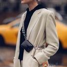 簡約包包女粗鏈條腰包時尚斜背零錢胸包迷你小包包【淘夢屋】